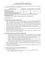 SBE İLAN METNİ Yüksek Lisans Doktora Güz 2014