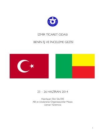 26 haziran 2014 - İzmir Ticaret Odası