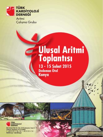 Aritmi 2015 flyer - Türk Kardiyoloji Derneği