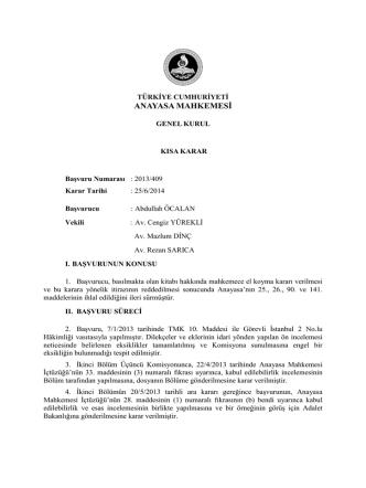 2013-409 aym kısa kararı