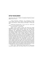 KİTAP İNCELEMESİ - Ankara Üniversitesi