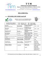 KELI ZSFY-A LOAD CELL - TTM Teknoloji Tasarım Merkezi