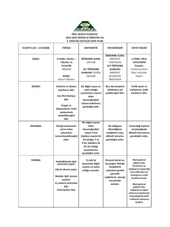 9. hafta - Akasya Koleji