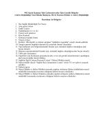 992 Sayılı Kanuna Tabi Laboratuvarlar İçin Gerekli Belgeler (Adres