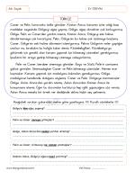 1.Sınıf 16 Nisan 2014 Ev Ödevi Ev Ödevi Çalışmamız