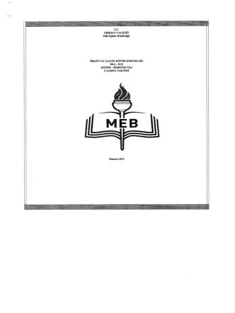 2014-2015 Çalışma Takvimi - Tepebaşı İlçe Milli Eğitim Müdürlüğü