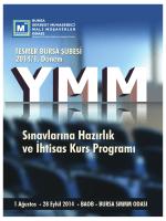 28 Eylül 2014 - Bursa SMMM Odası