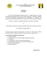 6111 ve 6353 sayılı af kanunu çerçevesinde fakültemize kabul
