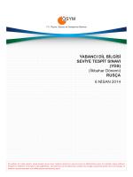 (YDS) (İlkbahar Dönemi) RUSÇA 6 NİSAN 2014