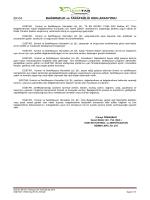 EGETAR Bağımsızlık ve Tarafszlık Deklarasyonu