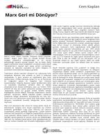 Marx Geri mi Dönüyor?