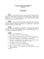 Sivil Havacılık Genel Müdürlüğü İmza Yetkileri Yönergesi
