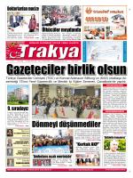 tekirdağ`a - Trakya Gazetesi