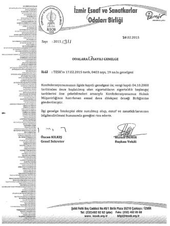 2015/17 - sigortalılık başlangıcının tespiti