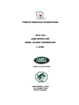 2015 land rover ligi engel atlama yarışmaları ı. ayak