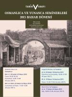 Osmanlica-Yunanca 2015 afis