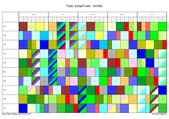 2014-15 İkinci Dönem Sınıflar Ders Programı. 23 Şubat 2015