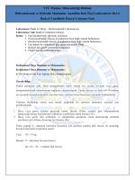 Fan Deneyi - Hazırlık Notu - Hidromekanik ve Hidrolik Makinalar