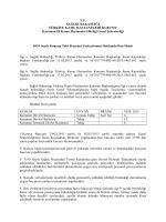 Resmi Yazı - Karaman Kamu Hastaneleri Birliği