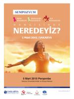 SEMPOZYUM - Sakarya Üniversitesi Haber Portalı