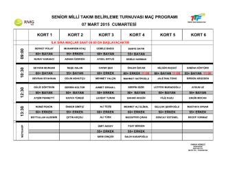 07 mart 2015 cumartesi maç programı