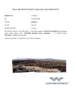 ihale edilmesi istenilen sahalarla ilgili bilgi notu erişim no : 3109254