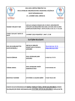 İLETİŞİM BİLGİLERİ - Antalya Gençlik ve Spor İl Müdürlüğü