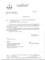 Müdürlüğümüzün konu ile ilgili 20/03/2015 tarih ve 3054496 sayılı