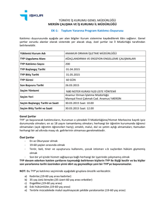 ANAMUR OİM.pdf - Mersin Orman Bölge Müdürlüğü