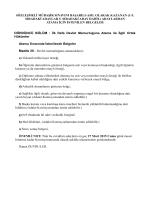 Mübaşirlik atama için istenilen belgeler