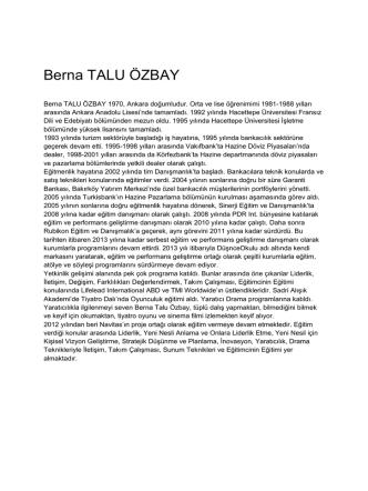 Berna TALU ÖZBAY