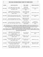 ÖZEL SAKLI CEVHERLER KREŞİ / KASIM AYI YEMEK LİSTESİ