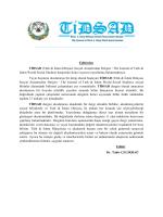Editorial - Türk-İslam Dünyası Sosyal Araştırmalar Dergisi