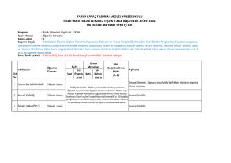 29763 - Faruk Saraç Tasarım Meslek Yüksekokulu | FarukSarac.edu.tr