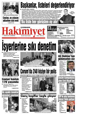 11 nisan.qxd - Çorum Hakimiyet Gazetesi