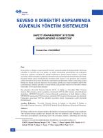 seveso ıı direktifi kapsamında güvenlik yönetim sistemleri