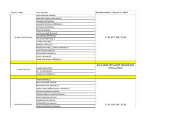 bilgilendirme toplantısı tarihi 17.04.2015 saat 10.00 daha önce