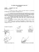 Kilis Valiliği Komisyon Kararları (Aralık 2014)