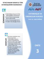 ı. yetkili makam kararı ile türk vatandaşlığının kazanılması