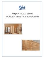 AHŞAP JALUZİ 25mm WOODEN VENETIAN BLIND