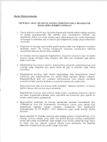 MOTORLU ARAÇ sieoRTALARııvnA asuman PARÇA BELGELEME