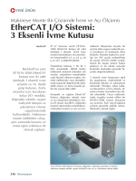EtherCAT I/O Sistemi: 3 Eksenli ‹vme Kutusu