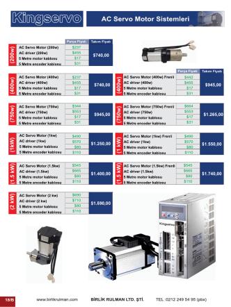 AC Servo Motor Sistemleri