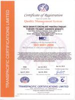 ISO 9001 - MCB Sanayi
