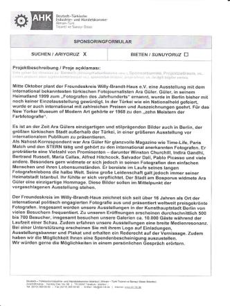 Ara Güler Ausstellung - Deutsch