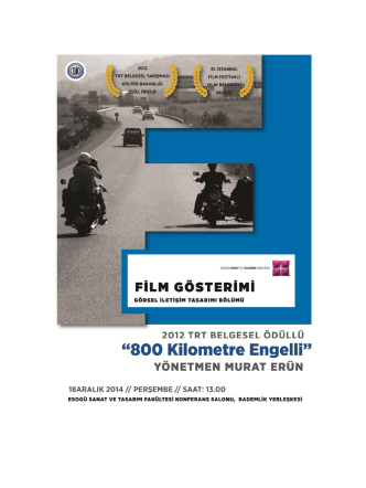 belgesel gösterimi afiş