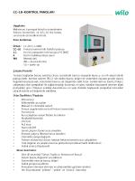 Wilo CC-LB Serisi Frekans Konvertör Panoları