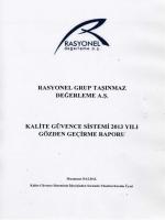 Kalite Güvence Sistem Raporu