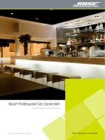 Bose® Profesyonel Ses Sistemleri