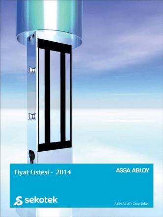 Assa Abloy 2014 Fiyat Listesi